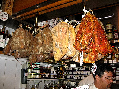 Guanciale at Volpetti in Rome